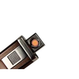 Zapalniczka elektryczna USB brązowa Pinner Silver Match
