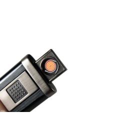 Zapalniczka elektryczna USB czarna Pinner Silver Match