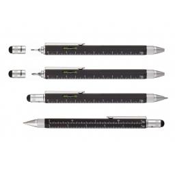 Wielozadaniowy długopis z linijką marki TROIKA Construction czarny