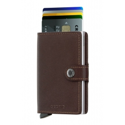 Portfel Miniwallet Original Dark Brown - SECRID