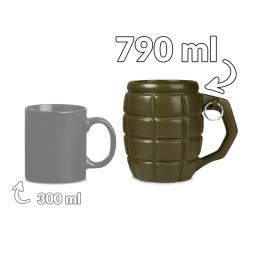 Granat gigantyczny kubek 790ml