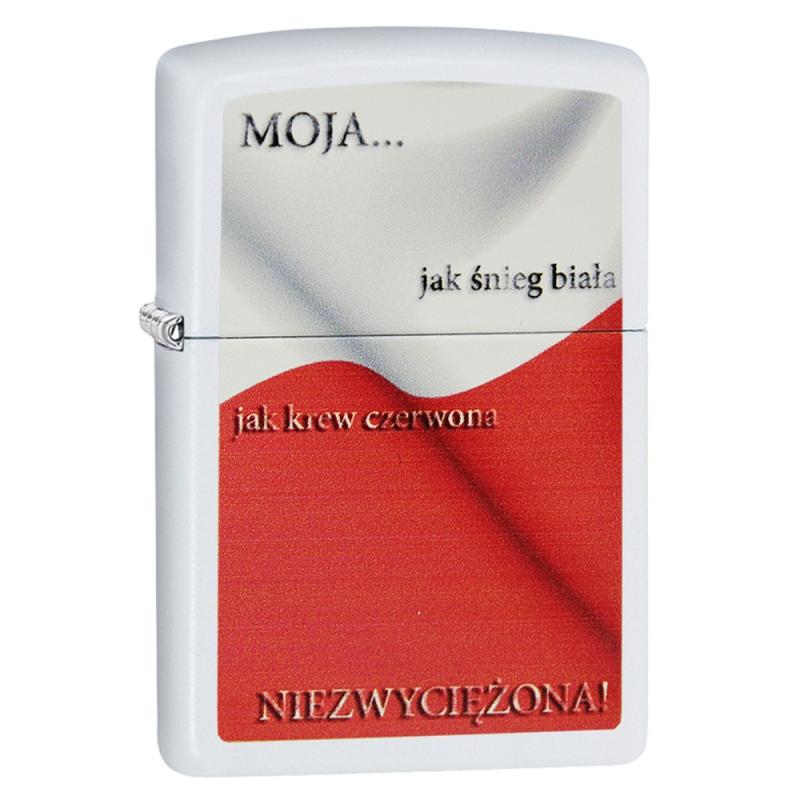 Zapalniczka Zippo Niezwyciężona White Matte Polska