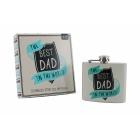 Piersiówka dla taty The Best Dad in the World CGB