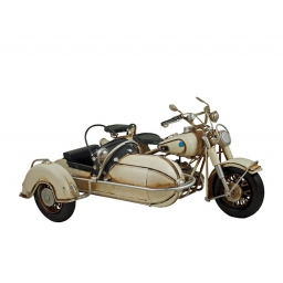 MOTOCYKL Z PRZYCZEPĄ RETRO wymiar 33*24*19 cm