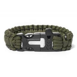 Wielofunkcyjna bransoletka Paracord 3w1 Army green