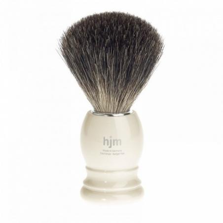 Pędzel do golenia HJM 100% borsuk, imitacja kości słoniowej