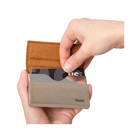 Etui na karty kredytowei wizytówki beż Balvi Gifts