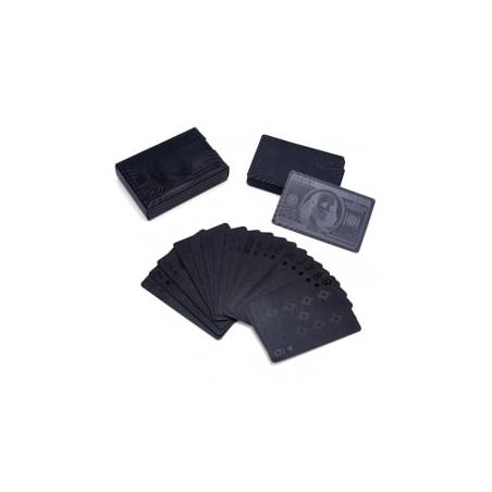 Wodoodporne czarne karty do gry
