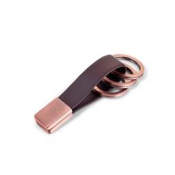 Skórzany brelok do kluczy Twister Rose Gold TROIKA