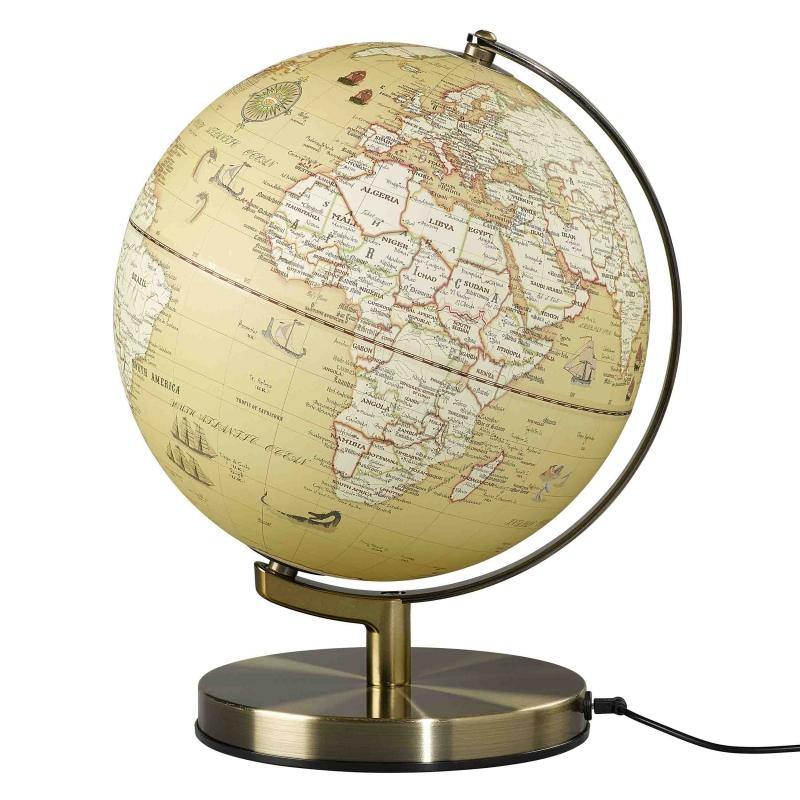 Globus podświetlany Vintage Map - Wild & Wolf