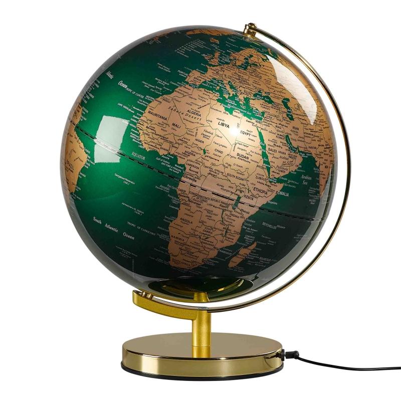 Duży globus podświetlany Fir Green - Wild & Wolf