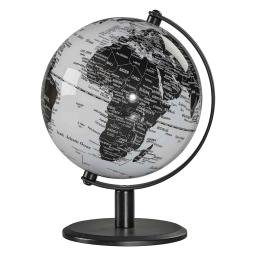 Globus na biurko czarno-biały Wild & Wolf