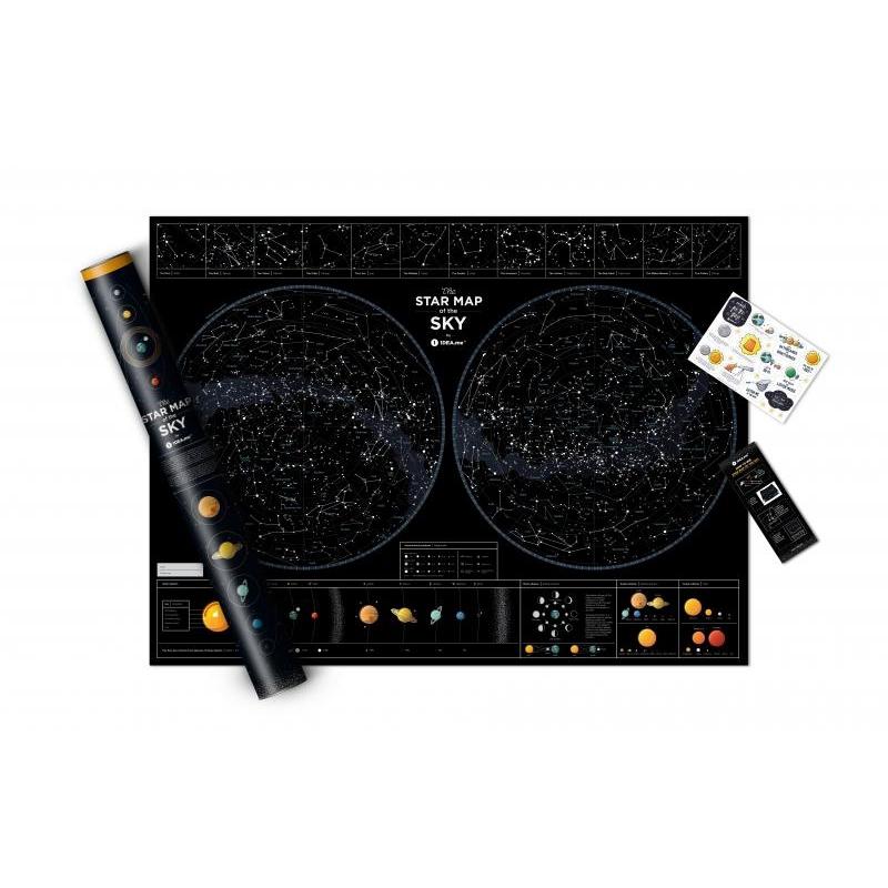 Mapa świecąca w ciemności Star Map of the Sky