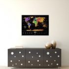 Mapa zdrapka Travel Map Black World