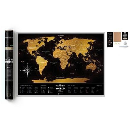 Mapa zdrapka Travel Map Black World