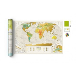 Mapa zdrapka Travel Map Geography World