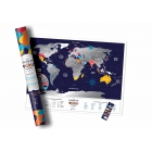 Mapa zdrapka Travel Map Holiday World