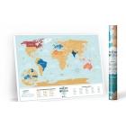 Mapa zdrapka po polsku Travel Map Lagoon World PL