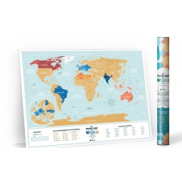 Mapa zdrapka po polsku Travel Map Lagoon World PL