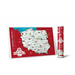 Mapa zdrapka Travel Map Polska