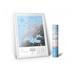 Mapa zdrapka Travel Map Silver Europe