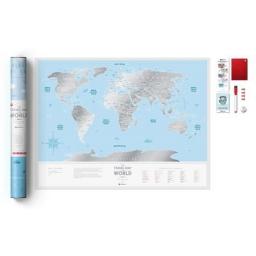 Mapa zdrapka Travel Map Silver World