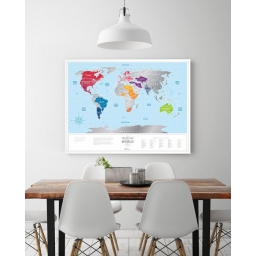Mapa zdrapka Travel Map Silver World