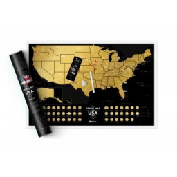 Mapa zdrapka Travel Map USA Black
