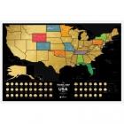 Mapa zdrapka Travel Map USA Black
