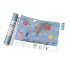 Mapa zdrapka Travel Map Weekend World