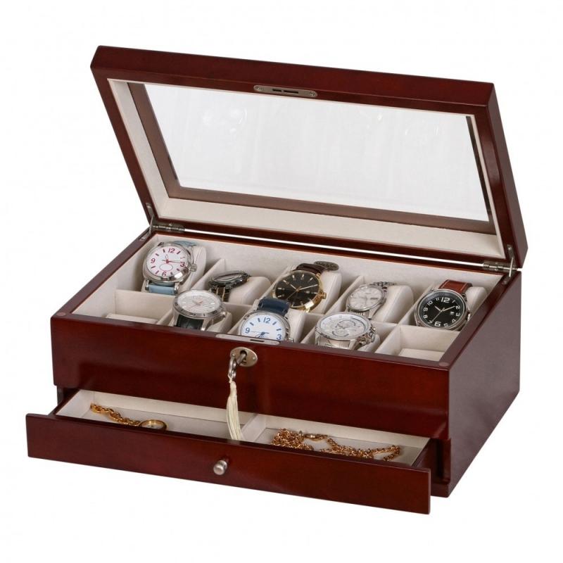 Drewniane etui na zegarki i biżuterię CHRISTO Mele & CO.