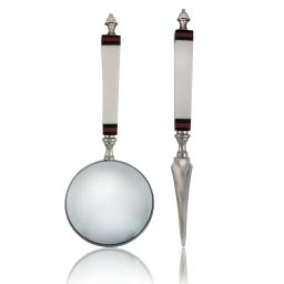 Elegancki zestaw lupa i nóż do kopert na stojaku Resplended Big