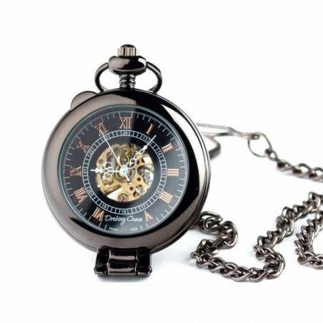 Elegancja Czerni I Zegarek kieszonkowy na łańcuszku