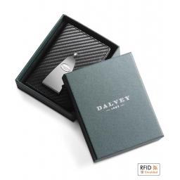 Pionowe etui na karty z klipem na banknoty RFID Continental Dalvey