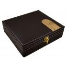 Elegancki zestaw do wina w skórzanym pudełku