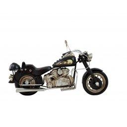 Motocykl retro replika czarny płomień