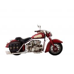 Replika motocykla retro czerwony