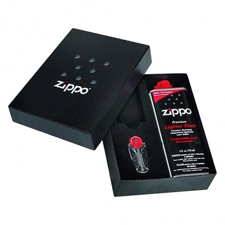 Zestaw prezentowy z benzyną i kamieniami Zippo