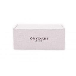 Spinki do mankietów dla smakosza win kieliszek i wino Onyx-Art London
