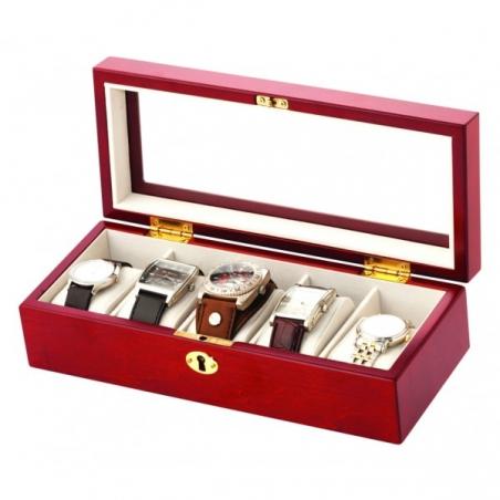 Pudełko drewniane na 5 zegarków Mele & CO