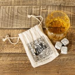 Zestaw szklanka i kamienne kostki lodu Widdop