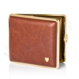 Elegancka papierośnica brązowo-złota V.H Collection