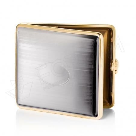 Chromowano-złota papierośnica etui na papierosy V.H Collection