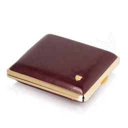 Papierośnica bordo na klasyczne papierosy 18ks - V.H Collection