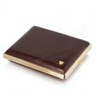 Papierośnica brązowa ze wzorem na 26ks - V.H Collection
