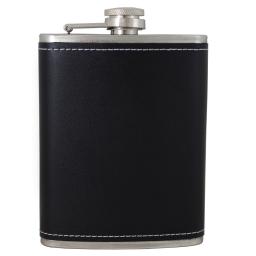 Zestaw prezentowy z elegancką piersiówką Black