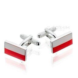 Spinki do mankietów Flaga Polski Polska Onyx-Art London