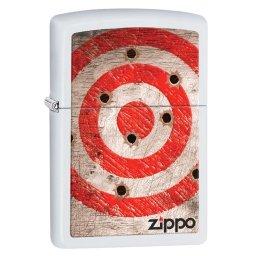 Zapalniczka Zippo Bullet Holes, White Matte