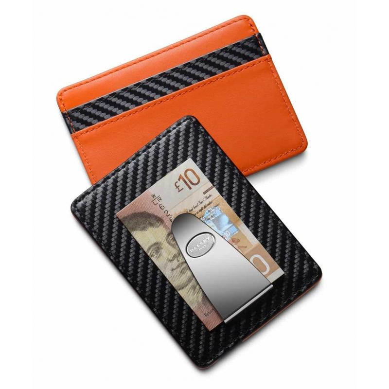 Skórzane etui na karty z klipem na banknoty Dalvey