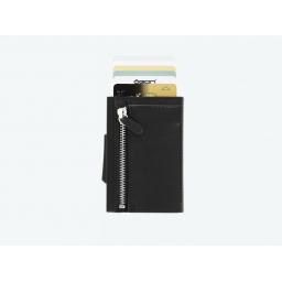 Portfel Cascade Wallet Zipper Ögon black